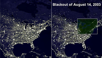 Northeast Power Outage Map.The Northeast Blackout Of 2003 Complex