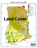 ghana land cover map