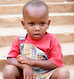 One of the growing number of Rwandan children         orphaned