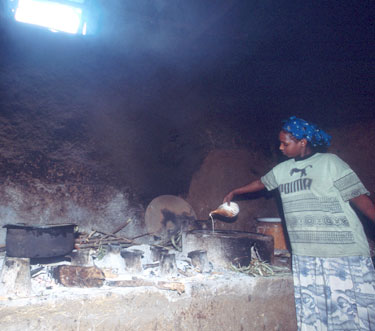 women in rural kitchen in Ethiopia