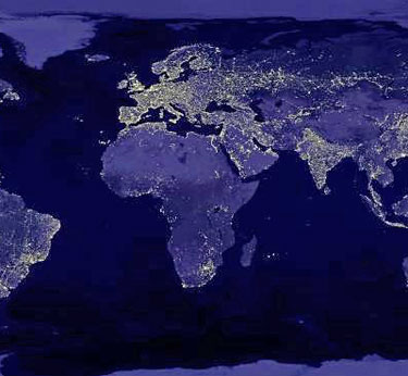 images of earth from space at night. While a dramatic night view of Earth flickered on the