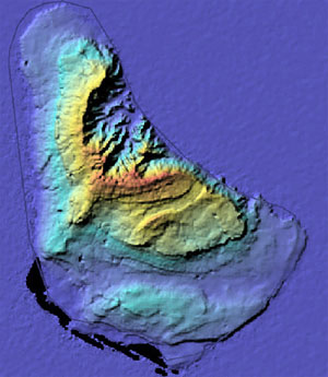 relief map of barbados