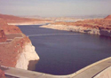 Lake Powell half full due to drought