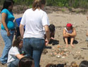 students learn about restoration ecology