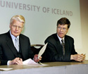 Jeffrey Sachs and President Grimsson of Iceland