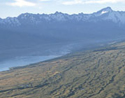 glacial moraine surrounding Lake Pukaki in southern New Zealand