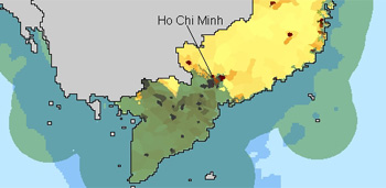 Deatail of coastal zone graphic for Vietnam