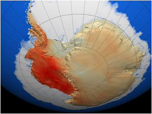 Warming across Antarctica, 1957-2007.