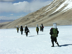 Researchers trekked high into the Himalayas to collect ice cores. (Institute of Tibetan Plateau Research, Chinese Academy of Sciences)