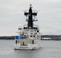 The research vessel Endeavor departs Rhode Island on its way to Haiti.