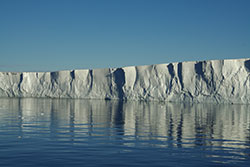 Stronger ocean currents are thinning Pine Island Glacier Ice Shelf. Credit: Frank Nitsche, Lamont-Doherty Earth Observatory.