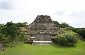 The Maya cleared away forests to grow crops and build their cities and temples. El Castillo at Xunantunich was an ancient Maya ceremonial site in western Belize.