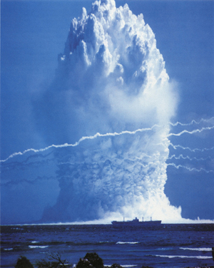 Before 1996, some 2,000 nuclear tests were conducted, many in the open. Since, then, three nations have broken a de facto ban: India, Pakistan and North Korea. Here: a 1958 U.S. underwater test at Enewetak Atoll, Pacific Ocean.