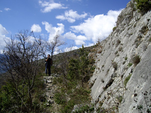 Fault scarps like this one in Italy's central Apennine Mountains have allowed researchers to understand how the lower crust, nine miles below, influences earthquakes.