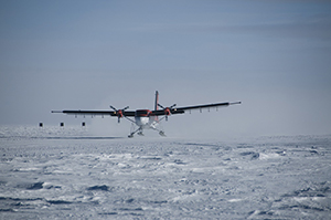 In a 2008-2009 expedition to Antarctica, researchers flew over the Gamburtsevs in a Twin Otter outfitted with ice-penetrating instruments.