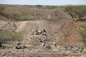The Lomekwi 3 dig sits in arid lands west of Lake Turkana in northwest Kenya.