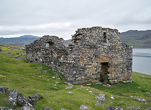 Vikings  colonized Greenland and possibly neighboring Baffin Island during what has been assumed to be—perhaps mistakenly--a temporary warm period. They disappeared in the 1400s. Southern Greenland's Hvalsey church is the best preserved Viking ruin. (Wikimedia Commons)