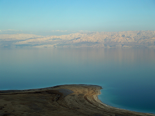 The landlocked Dead Sea is shrinking rapidly. A new study suggests it has largely dried up in the past during natural warm periods, suggesting that human-influenced climate change could make the surrounding region much more arid than it already is.