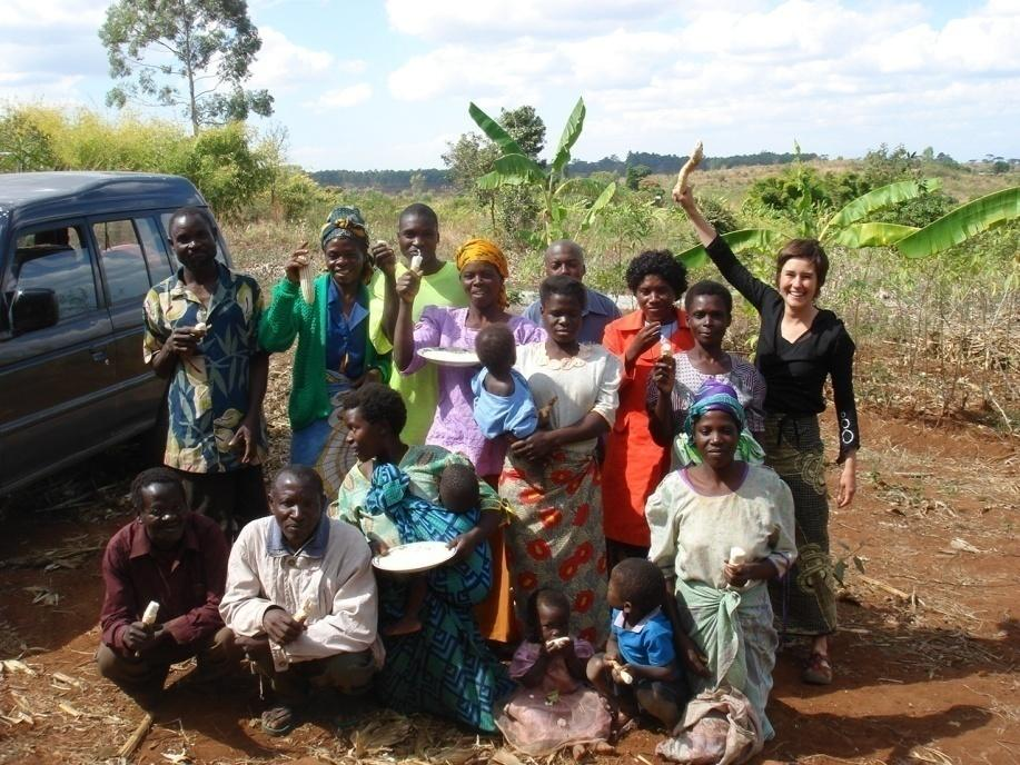 Dr. Roseline Remans with villagers in Mwandama, Malawi (courtesy of Eleanor Cooper, 2008)